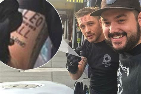 tom hardy gets embarrassing tattoo after losing his bet to