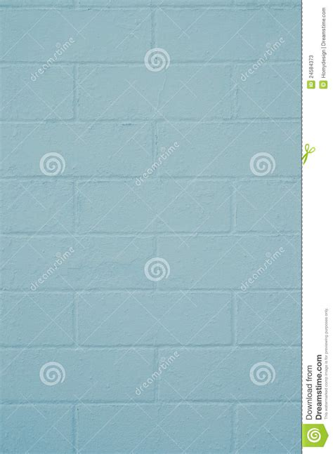brick wall painted with a blue paint stock photos image 24584373