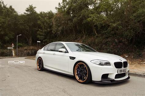 custom bmw m5 alpine white bmw f10 m5 with pur wheels