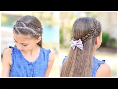 cute down hairstyles youtube how to create zig zag twistbacks cute girls hairstyles