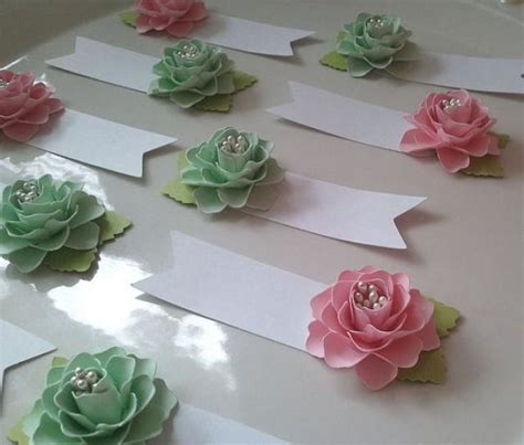 Paper Table Decorations To Make - place cards cards paper flowers weddings