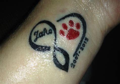 tattoo infinity dog infinity heart dog paw tattoo in memory of my sweet