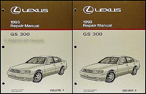 auto repair manual online 1995 lexus gs auto manual 1993 lexus gs 300 repair shop manual 93 origninal gs300 service book oem ebay