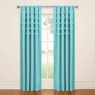 turquoise curtain rod buy turquoise curtains from bed bath beyond