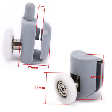 Shower Screen Door Rollers 8 Single Shower Screen Door Roller Runner Wheel Top Bottom Bathroom 23mm Ebay