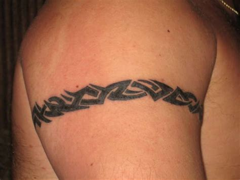 small tribal arm band on shoulder tattooimages biz