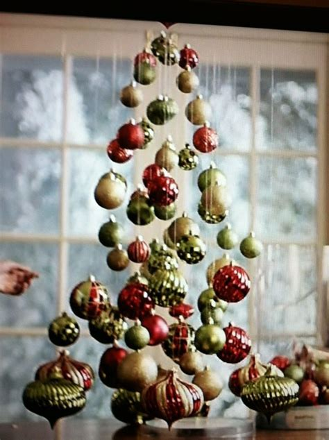 hanging ornaments to make a christmas tree ideas for