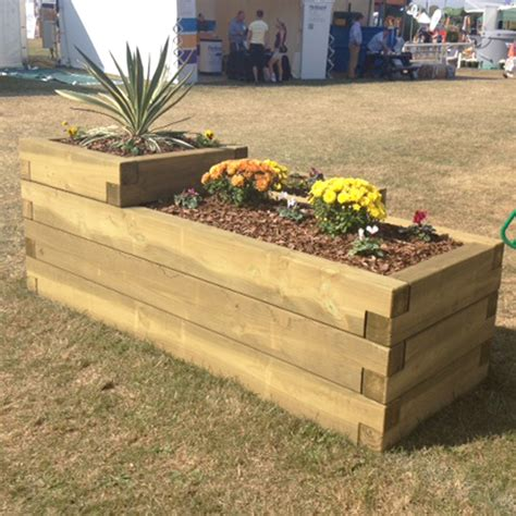 Sleeper Planters by 3 Tier Sleeper Planter Parry Playground