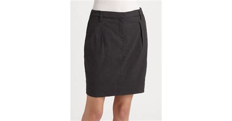 eileen fisher pencil skirt in gray lyst