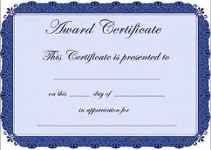 Certificate Of Award Template Free by Trood Free Award Certificate