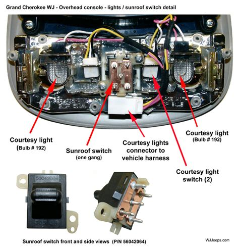 jeep overhead console wiring diagram 45 wiring