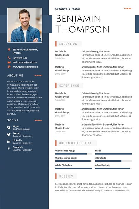 Fancy Resume Templates 40 Best 2018 S Creative Resume Cv Templates Fancy Resume Templates Free