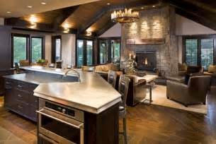 Open Living Room Kitchen Designs by Open Concept Kitchen Living Room Designs Home Interior Ideas