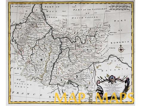 south west germany map south west germany antique map by rapin 1743 mapandmaps