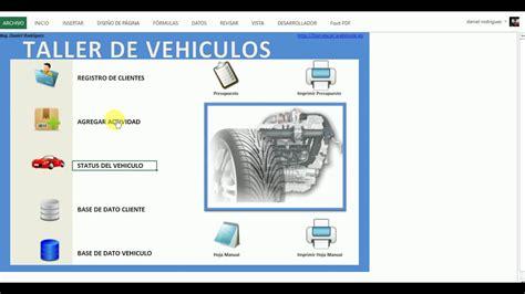 cotizaciones de vehiculos 2016 excel sistema para taller de vehiculos tipo inventario