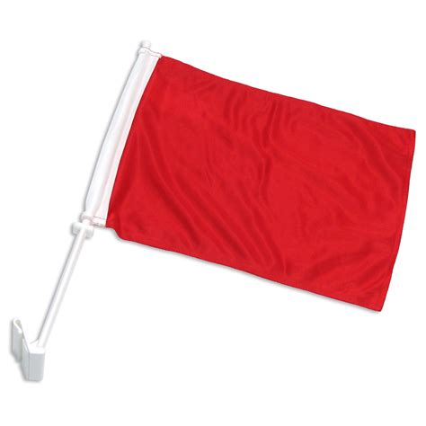 Rote Fahne Auto by Solid Car Flag