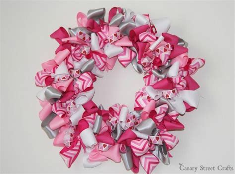 valentines day ribbon s day ribbon wreath family crafts
