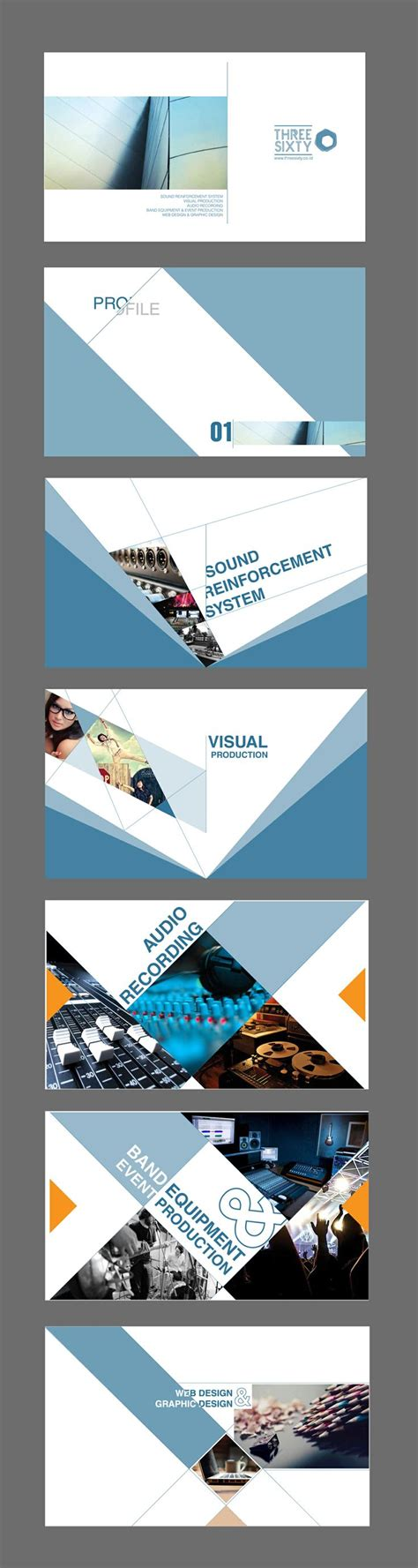 creative company profile layout pdf threesixty company profile template creative print