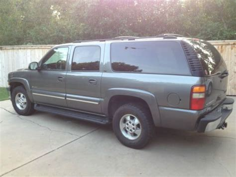 find used 2001 chevy suburban lt gray fully loaded