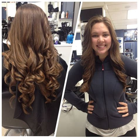barrel curl weave hair loose curls using heat protectant for each section part