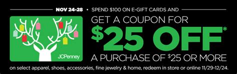 Free Jcpenney Gift Card - going to jcpenney black friday get some extra money to spend mylitter one deal