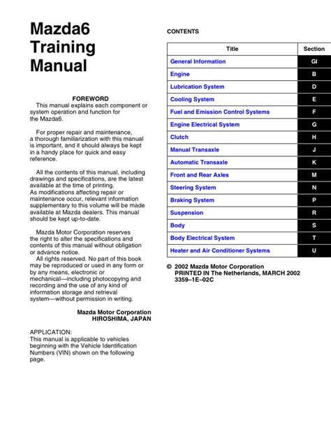 mazda 6 wiring diagram manual wiring diagram with
