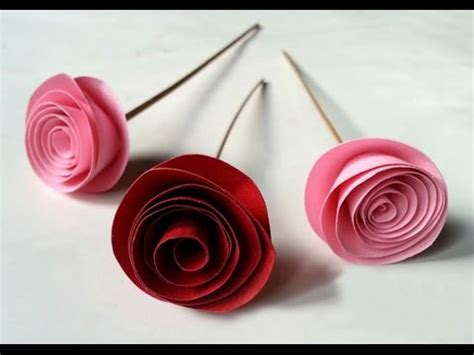 Roses Essay by Diy Easy Rolled Paper Roses For Mothers Day Birthday Gift Wedding Flowers Or Valentines Day