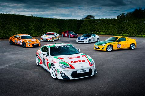 toyota rally car toyota pays tribute to past race and rally cars with gt86