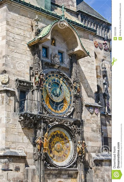 astronomical wall astronomical clock on the wall of the town