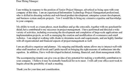 it cover letters project manager it cover letter