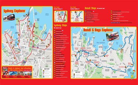 map of australia with sydney sydney sightseeing map