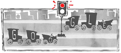 doodle anniversary 101st anniversary of the electric traffic signal system