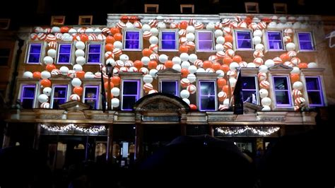 christmas video mapping jolly s department store bath