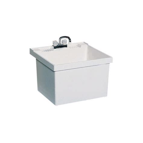 laundry sink shop swanstone white composite laundry sink at lowes