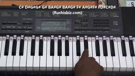 tutorial organ keyboard padayappa narsimha mouth organ theme piano