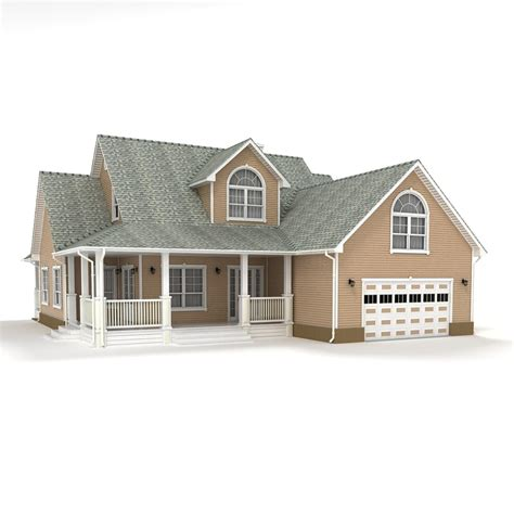 2 Story Cottage by 3d Model Two Story Cottage