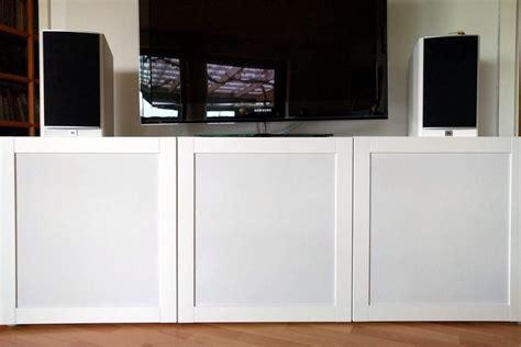 How to hack speaker fabric doors for BESTÅ TV unit   IKEA