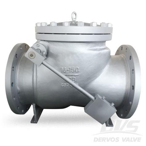 Api 6d Swing Check Valve With Weight 150 Wcb Rf Dervos