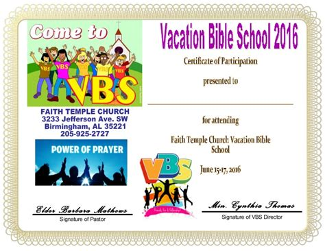 vbs certificate template vbs certificate child
