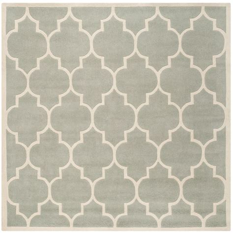 5 foot square rug safavieh chatham grey ivory 5 ft x 5 ft square area rug cht733e 5sq the home depot