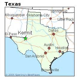 map of kermit best places to live in kermit