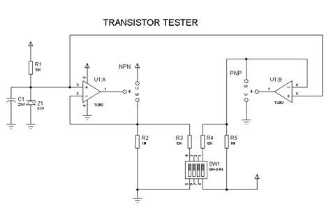 transistor testing npnpnp transistor tester measuringandtestcircuit circuit schematics simple transistor