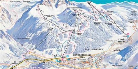 Chair Lifts Ponte Di Legno The Largest Ski Area In Lombardy Italy