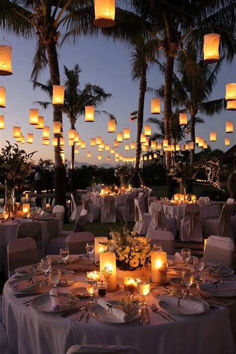 outdoor wedding reception decor outdoor wedding ideas 20 amazing ways to use floating lanterns