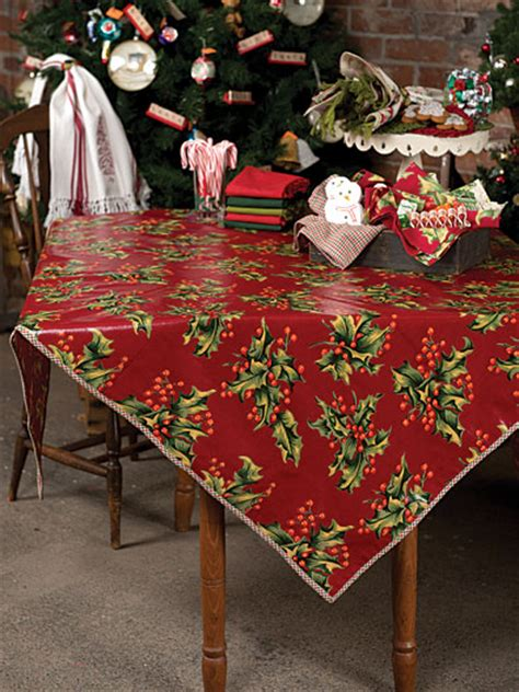 28 best large christmas tablecloths and runners 1980s