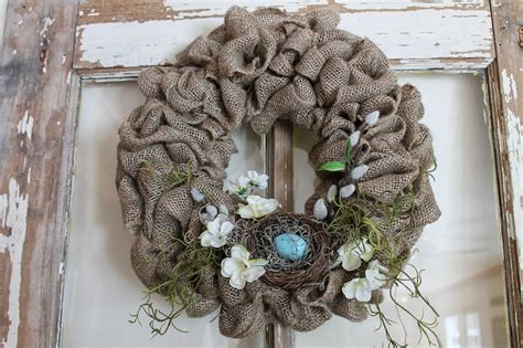 spring wreaths to make elizabeth co spring burlap wreaths with flowers and nests