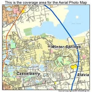 aerial photography map of winter springs fl florida