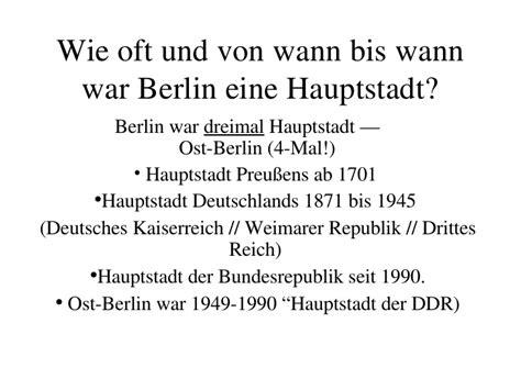 seit wann ist berlin die hauptstadt berlinquiz key