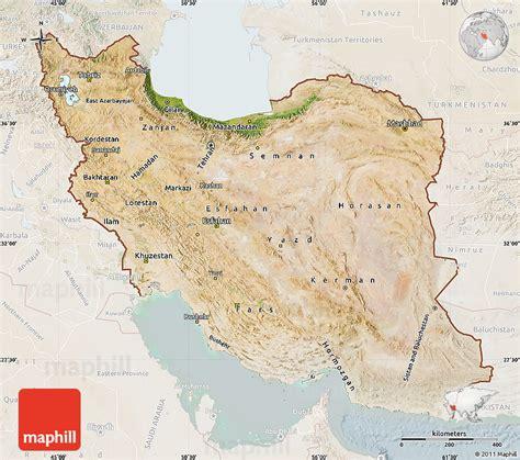 satellite map of iran satellite map of iran lighten