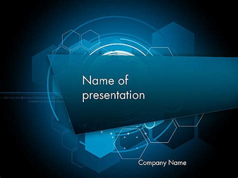 abstract high tech hexagons presentation template for